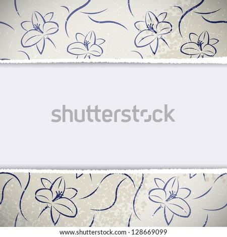 Floral Vintage Background. Vector illustration