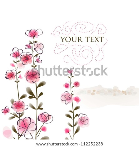 floral vintage background. vector illustration eps10