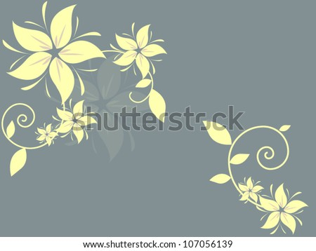Floral vintage background with flowers in vector