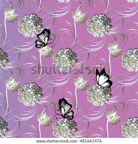 floral vintage  modern pink