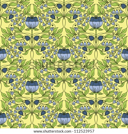 Floral vintage seamless pattern for retro wallpapers