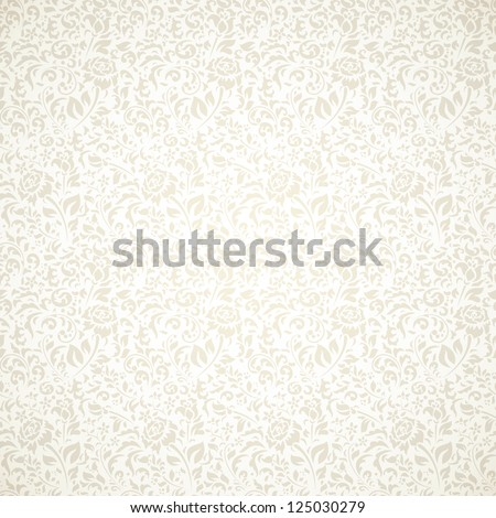 Floral vintage seamless pattern on light background