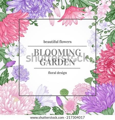 floral vintage summer vector