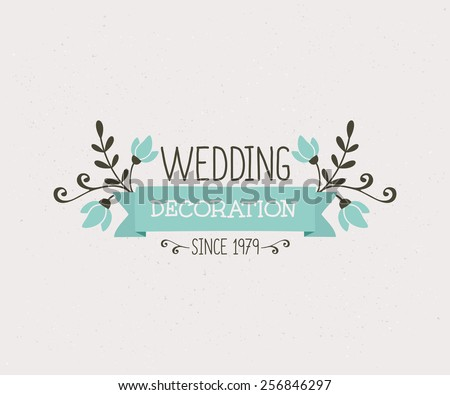 Wedding floral vector decorations download free vector art floral wedding decoration design cute and elegant vintage style logo template junglespirit Image collections