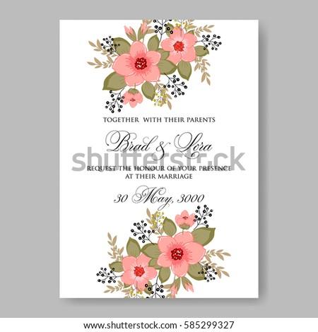 Floral wedding invitation #585299327