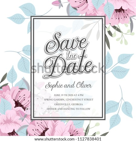 Floral wedding invitation design