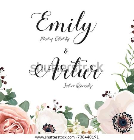 lavender vector wedding invite download free vector art stock