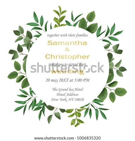 floral wedding invitation with