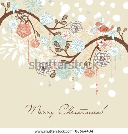 Floral Winter background.