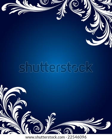 Floral winter background vector - stock vector