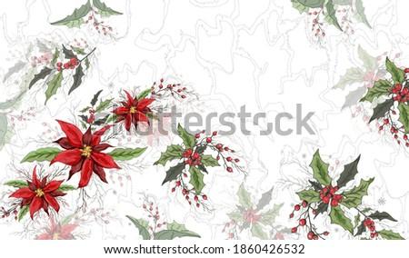 floral winter pattern
