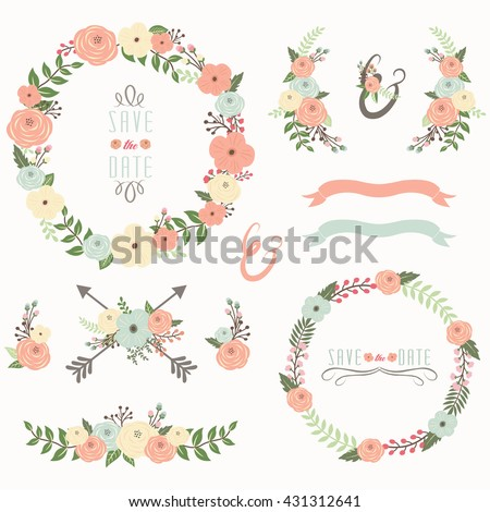 Floral Wreath Collection #431312641