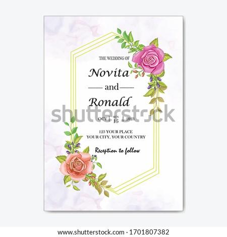 Floral wreath elegant birthday party invitation