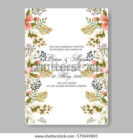 Floral wreath wedding invitation #570649801
