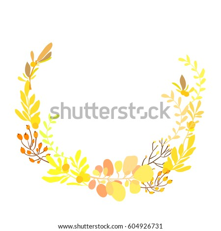 floral wreath with spring