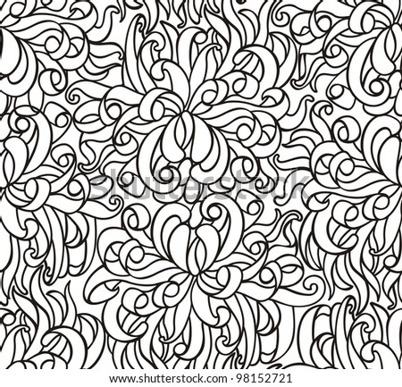 Floras seamless line vector wallpaper