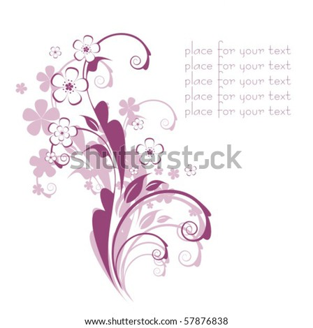 Stock Vector Flores Background 57876838