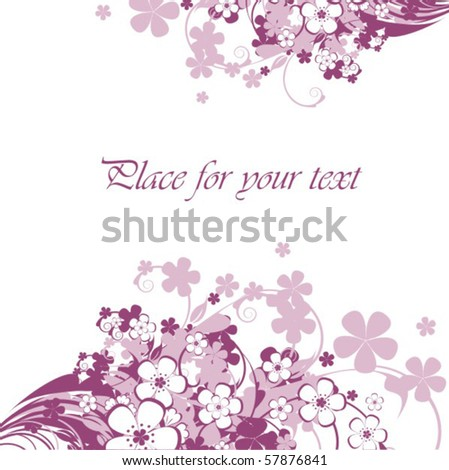 Stock Vector Flores Background 57876841