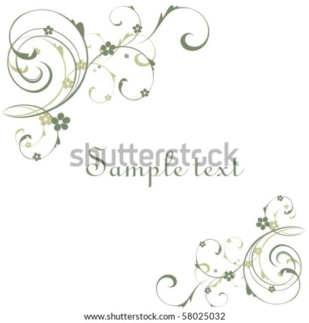 Stock Vector Flores Background 58025032