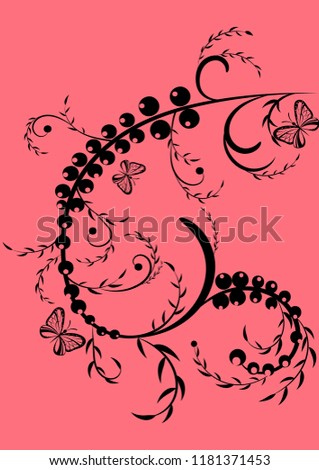 florid floral pattern background nature butterfly vector