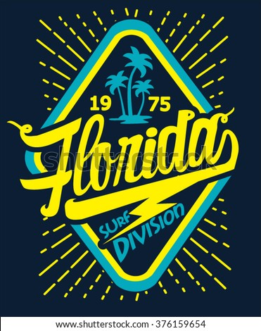 florida beach typography  t