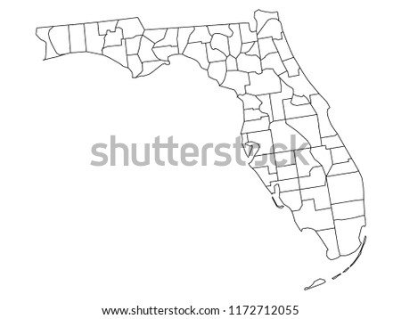 Florida Country Map.Florida Map With Counties Vector Download Free Vector Art Stock