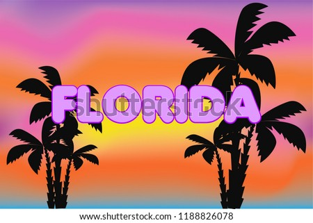 florida lettering on colorful