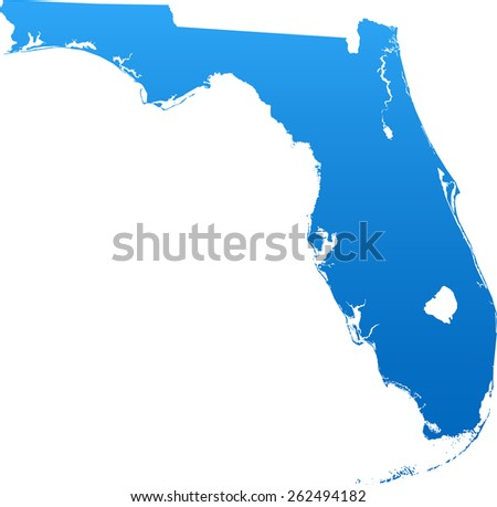 Florida Map With Counties Vector Download Free Vector Art Stock