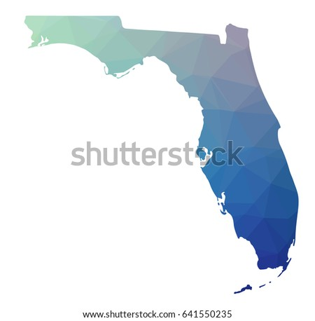 Where Is Santa Rosa Beach Florida On A Map.Colorful Florida Map Vector Download Free Vector Art Stock