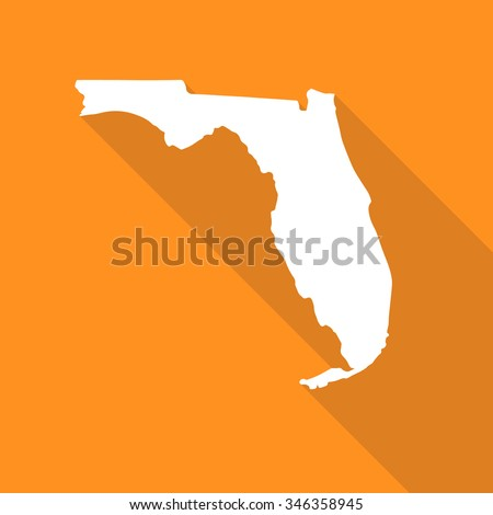florida map flat simple style
