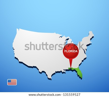 Florida on USA map