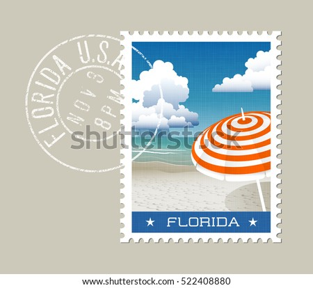 florida postage stamp design