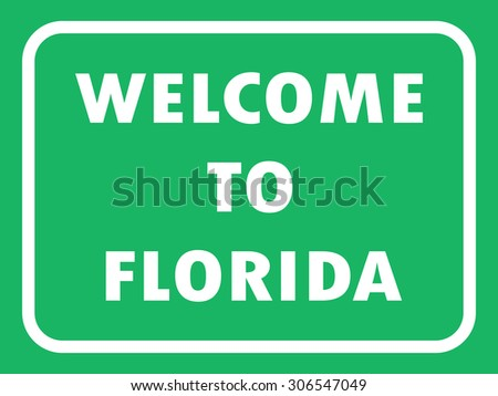 florida state road sign