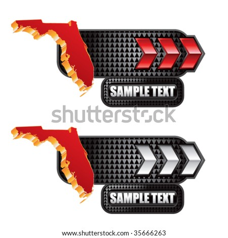 florida state shape on red and