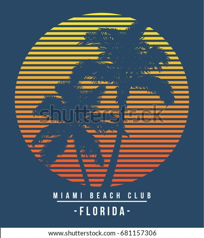 florida summer sun vector
