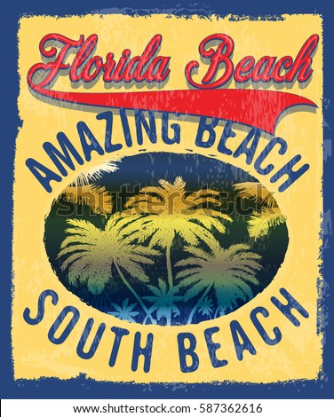 Florida summer tee graphic design