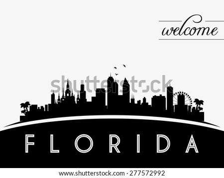 florida usa skyline silhouette