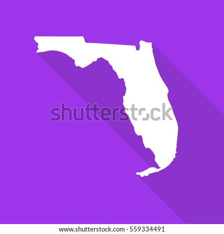 florida white map border flat
