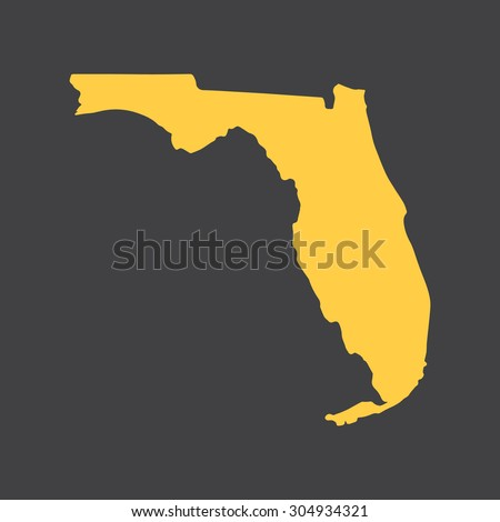 florida yellow state border map