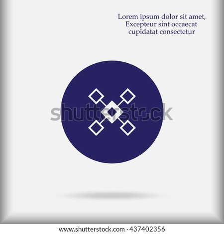 flow chart icon vector flow