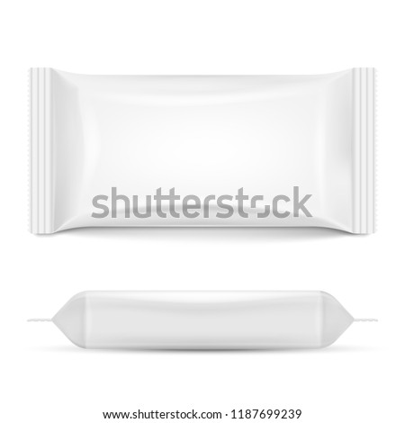 Flow pack isolated on white background. Vector illustration. Eps 10.