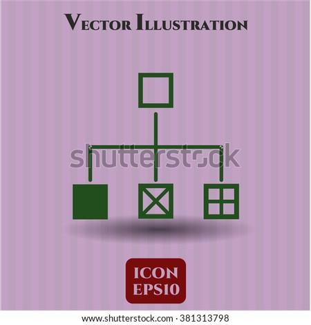 Flowchart icon or symbol