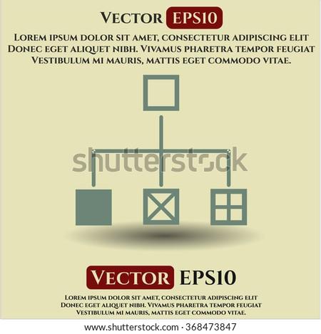 Flowchart icon vector illustration