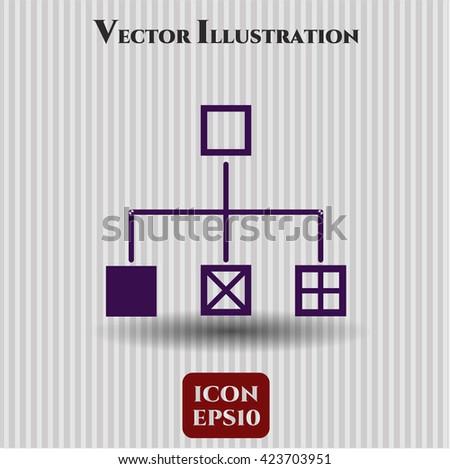 flowchart icon vector symbol flat eps jpg app web concept