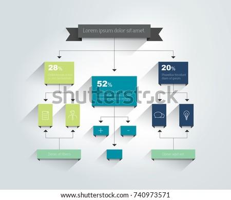 Flowchart. Scheme, diagram, chart. Infographic.