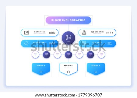Flowchart structure. Hierarchy scheme infographic for business presentation and structure organization. Vector illustration team works process tree design template Stock photo ©