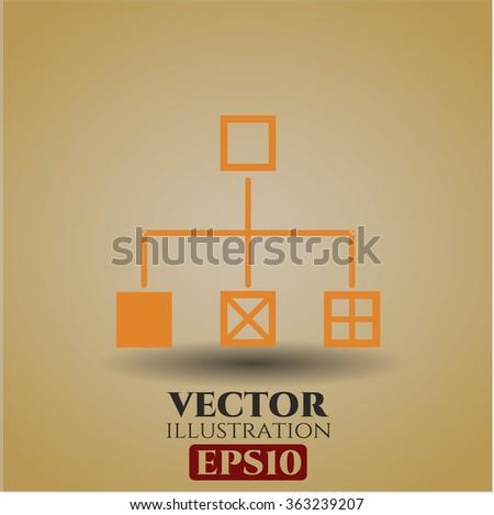 Flowchart vector icon