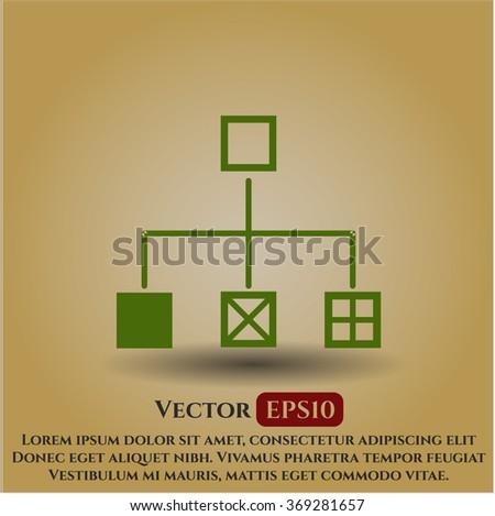 Flowchart vector icon or symbol
