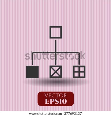 Flowchart vector symbol
