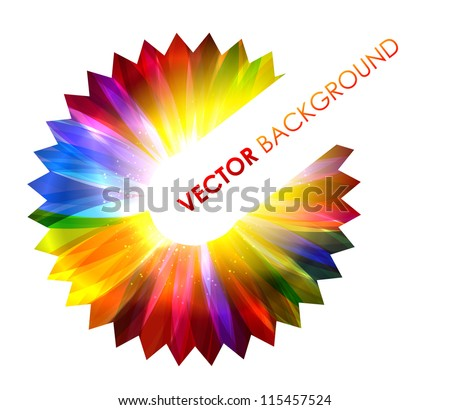 Flower abstract element. Vector illustration.